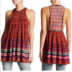 Free People Multi-Color Knit Sleeveless Rare Heart